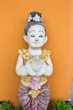 泰国古老石雕刻 库存照片