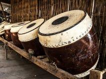 泰国古老鼓乐器 免版税图库摄影