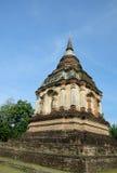 泰国古老lanna塔的寺庙 库存照片