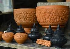 泰国古色古香的泥罐earthware 图库摄影