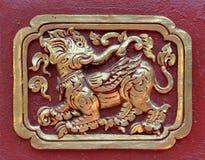 泰国叫的Kodchasri在Watprasing寺庙的泰国雕塑 Chiangrai泰国 免版税库存图片