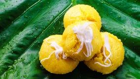 泰国可口点心棕榈汁蛋糕甜的口味 免版税库存照片