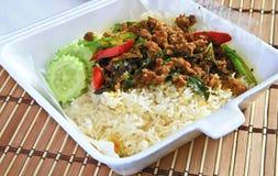 泰国咖喱。 免版税库存照片