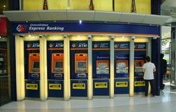 泰国商业银行ATM摊 库存照片