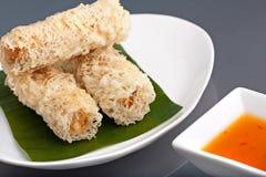 泰国嘎吱咬嚼的蛋卷 免版税库存照片