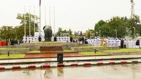 泰国国王送葬者悼念仪式  库存图片