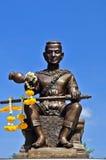 泰国国王pranaresuan somdet雕象 库存图片