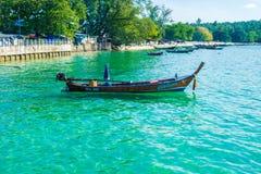 泰国土地小船晚上 免版税库存照片