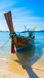 泰国土地小船晚上 免版税库存图片