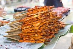 泰国在塑料袋的街道food.curry装箱 库存照片