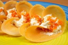 泰国在盘子的样式酥脆馅饼 库存照片