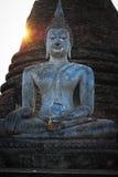 泰国地标 古老菩萨雕象 Sukhothai历史P 免版税库存照片