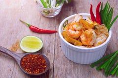 泰国填充的虾 图库摄影