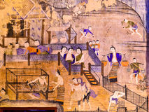 泰国壁画 图库摄影