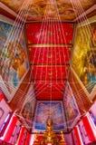 泰国壁画在教堂里 免版税库存图片