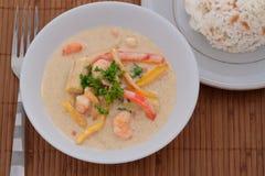 泰国大虾咖喱 库存照片