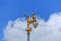 泰国天使灯杆 免版税库存照片