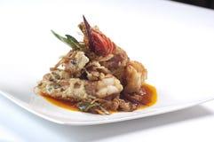泰国天麸罗虾串 免版税库存图片