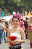 泰国夫人的微笑 库存图片