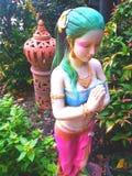 泰国妇女雕象 库存照片