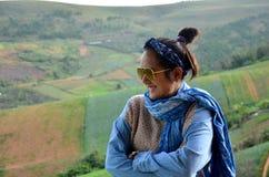 泰国妇女34岁的旅行和画象 免版税库存图片