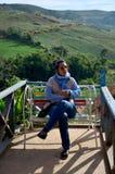泰国妇女34岁的旅行和画象 免版税库存照片
