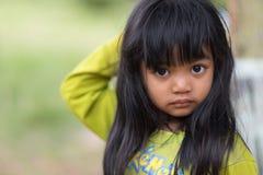 泰国孤儿小女孩画象 免版税库存照片
