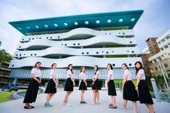 年轻泰国学生女孩 库存照片