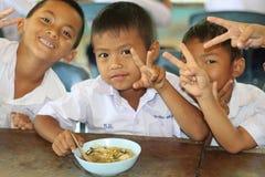 泰国学生是享用 库存照片