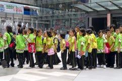 泰国孩子在泰国中心 免版税库存图片