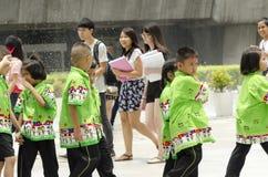 泰国孩子在泰国中心 库存图片