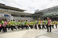 泰国孩子在泰国中心 库存照片