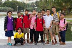 泰国孩子小组 免版税图库摄影