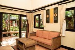 泰国客厅的样式 库存照片
