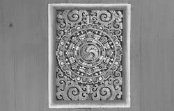 泰国寺庙古老雕刻的木窗口  泰国 库存图片