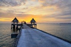 泰国寺庙在海 库存照片