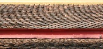 泰国寺庙屋顶的样式 免版税库存照片