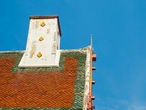 泰国寺庙的屋顶教会 免版税库存图片