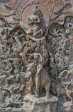 泰国寺庙的美丽的石雕刻家 库存图片