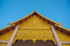 泰国寺庙的,泰国金教会 图库摄影