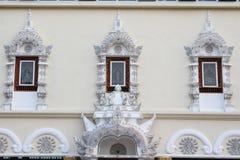 泰国寺庙窗口 免版税库存照片