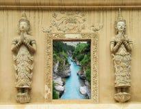 泰国寺庙窗口 库存图片