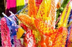 泰国寺庙纸装饰 免版税图库摄影