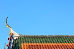 泰国寺庙装饰屋顶 免版税库存图片