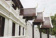 泰国寺庙设计  免版税库存图片