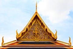 泰国寺庙金山墙  库存图片