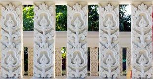 泰国寺庙雕象  图库摄影