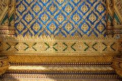 泰国寺庙马赛克样式铺磁砖装饰 免版税图库摄影