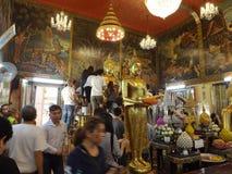 泰国寺庙,在Samutprakan,泰国的Wat Bangplee亚伊nai 免版税库存照片