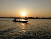 泰国小船在chaophraya河泰国 免版税库存图片